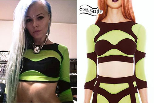 Kerli: Lime Green Mesh Crop Top