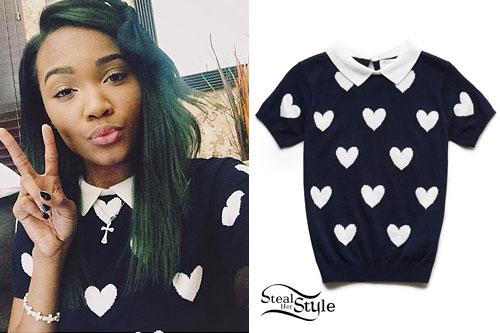 Lauryn McClain: Heart Print Sweater