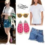 Miley Cyrus: Boyfriend Shorts, Cropped Tee