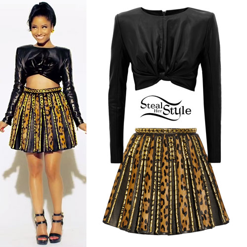 Nicki Minaj: Anaconda Balmain Outfit
