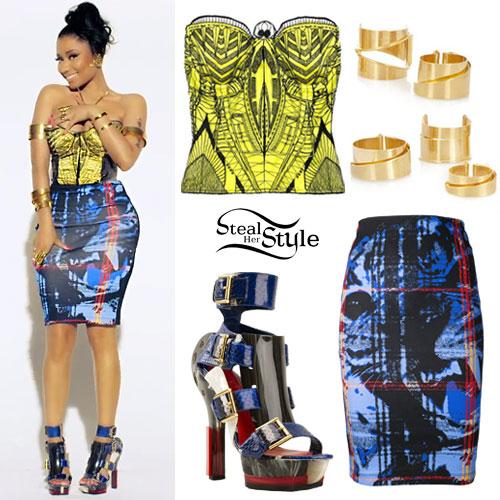 Nicki Minaj: Anaconda Alexander McQueen Outfit