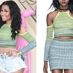 Nicki Minaj: Green Ombré Cropped Sweater