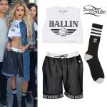 Pia Mia Perez: Ballin Crop Tee, Basketball Shorts