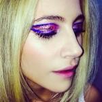 pixie-lott-makeup-pink-glitter