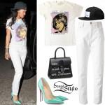 Rihanna at Gjelina Restaurant in Los Angeles. August 9th, 2014 - photo: rihanna-diva
