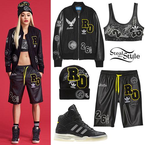 Rita Ora: Adidas Collaboration Outfit
