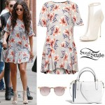 Selena Gomez: Floral Dress Outfit