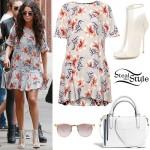 Selena Gomez: Floral Dress Outfit