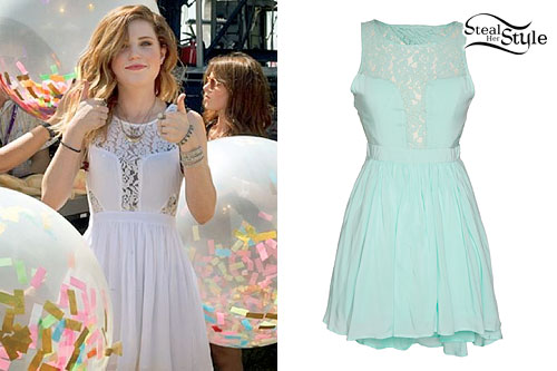Sydney Sierota: White Lace Bodice Dress