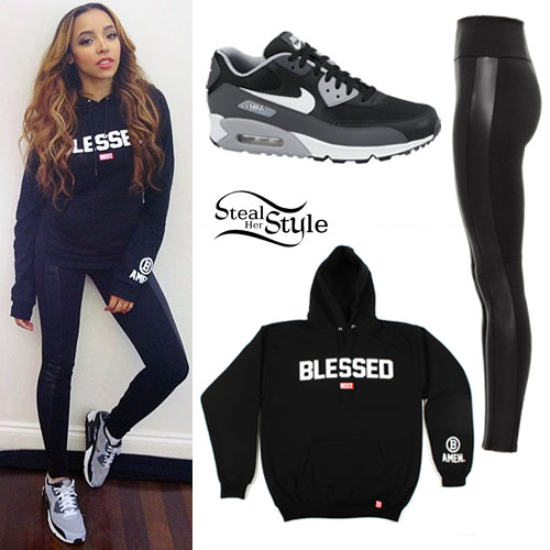 Tinashe: Blessed Sweatshirt Outfit | Steal Her Style