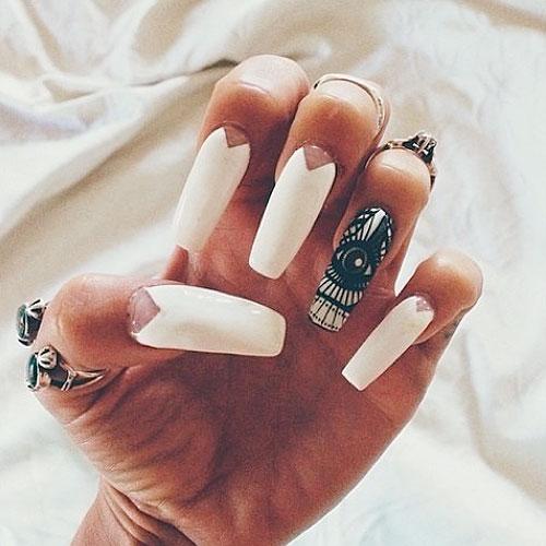 Kylie jenner matte coffin nails