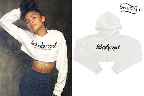 Zendaya: Badwood Cropped Hoodie