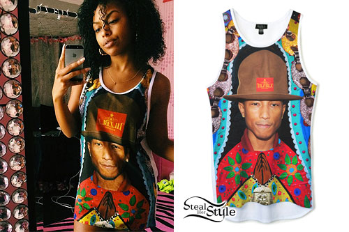 Bahja Rodriguez: Pharrell Tank Dress