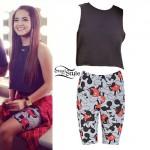 Becky G: Crop Tee, Mickey Bike Shorts