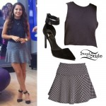 Becky G: Polka Dot Skirt, Ankle Strap Pumps