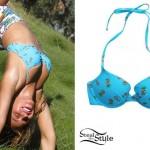 Beyoncé: Pineapple Print Bikini Top