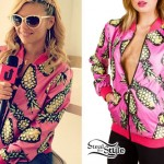 Chanel West Coast: Pineapple Bomber Jacket