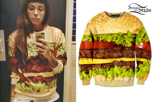 Christina Perri: Hamburger Sweatshirt