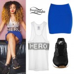 Ella Eyre: 'Hero' Tank Top Outfit
