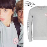 Foxes: Grey Baseball Sweatshirt