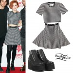 Hayley Williams: Houndstooth Crop Top & Skirt