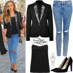 Jade Thirlwall: Black Blazer, Ripped Jeans