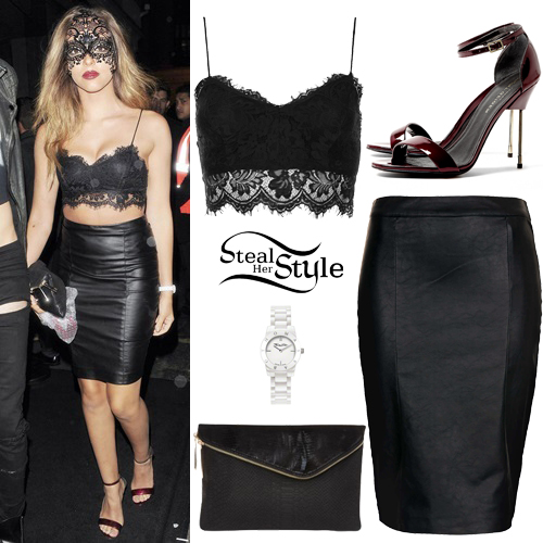 Jade Thirlwall: Lace Top, Leather Skirt | Steal Her Style