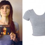 LIGHTS: Heather Gray Crop Tee