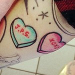 melissa-marie-green-candy-hearts-tattoo