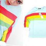Miley Cyrus: Rainbow Sweatshirt Dress