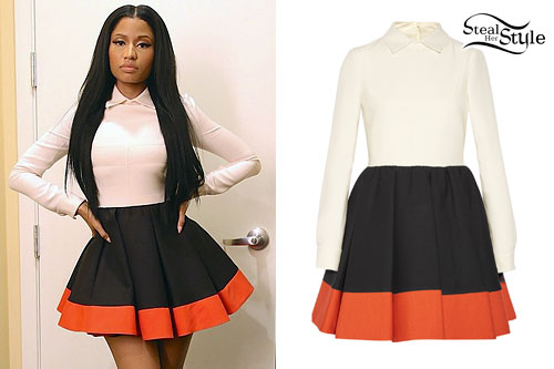 Nicki Minaj: Colorblock Pleated Dress