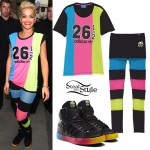 Rita Ora: Black & Rainbow Adidas Collection