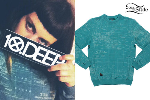 Sierra Kusterbeck: Map Print Sweatshirt