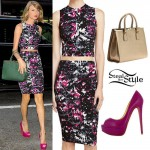 Taylor Swift: Printed Top & Skirt, Pink Pumps