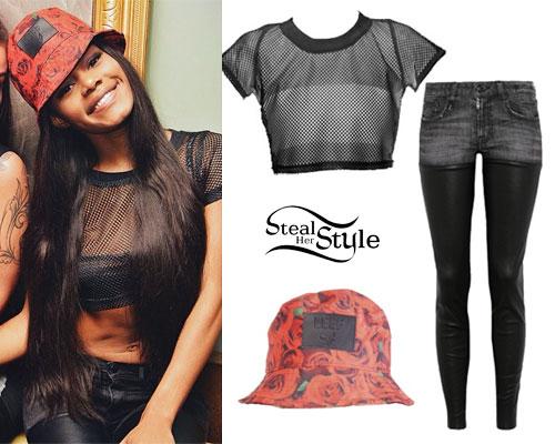 Teyana Taylor: Rose Bucket Hat, Mesh Tee