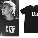 Willow Smith: Black 'ART.' T-Shirt