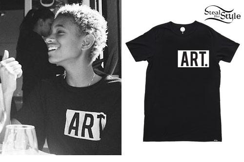 Willow Smith: Black 'ART.' T-Shirt