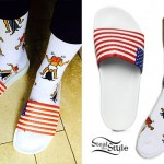 Zendaya: Twerk Socks, American Flag Sandals