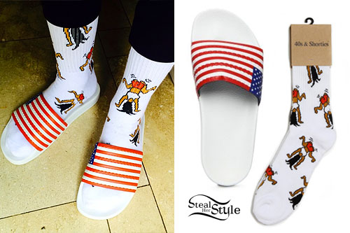 "Game Socks And Sandals Flag Sandals ""sock Game"