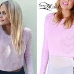 Alli Simpson: Light Pink Knit Sweater