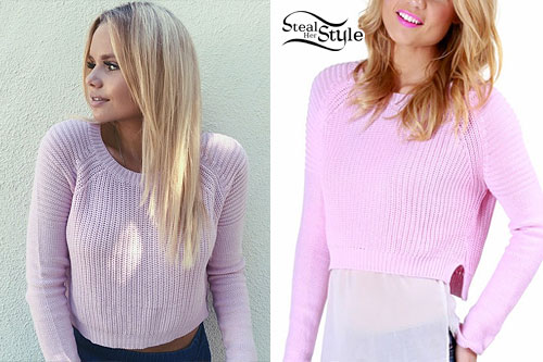 Alli Simpson: Light Pink Knit Sweater
