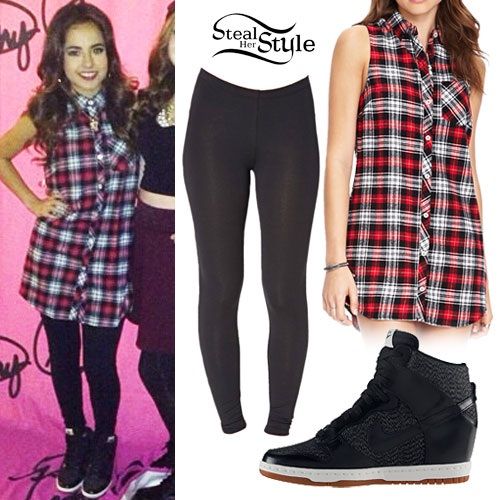 Becky G: Plaid Sleeveless Tunic Outfit
