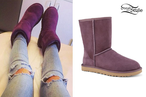 Bella Thorne: Purple UGG Boots. ""