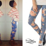 Cady Groves: Blue Floral Leggings