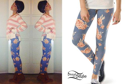 Cady Groves: Blue Floral Leggings