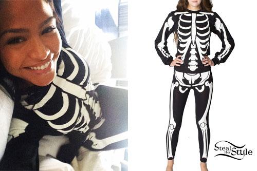Cassie: Skeleton Sweatshirt & Leggings