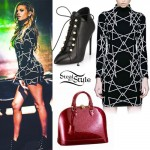 Chanel West Coast: Geometric Print Dress