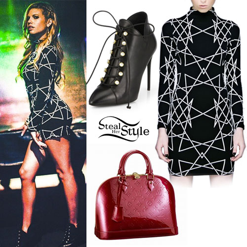 Chanel West Coast: Geometric Print Dress