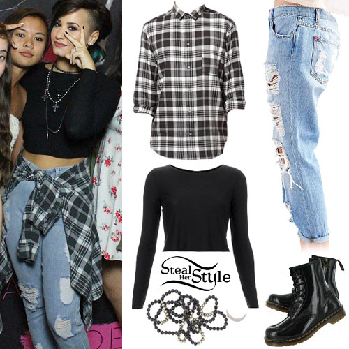 163 demi lovato fashion clothes outfits steal her style page 6 demi lovato at the demi world tour newark meet greet october 25th 2014 m4hsunfo