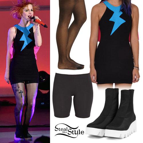 Hayley Williams: Lightning Bolt Cape Dress